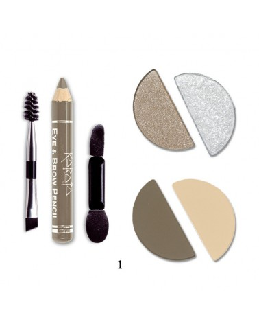 Karaja Eye&Brow Basic Mini paletka cieni do brwi i oczu nr 1