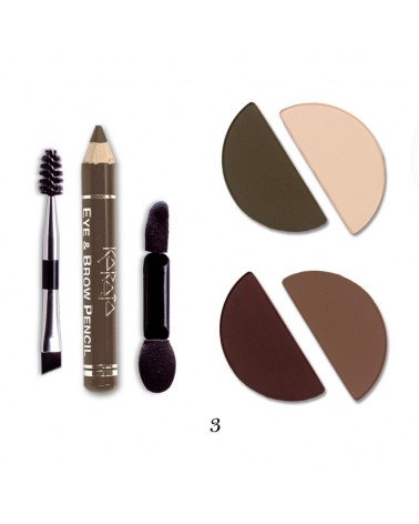Karaja Eye&Brow Basic Mini paletka cieni do brwi i oczu nr 3