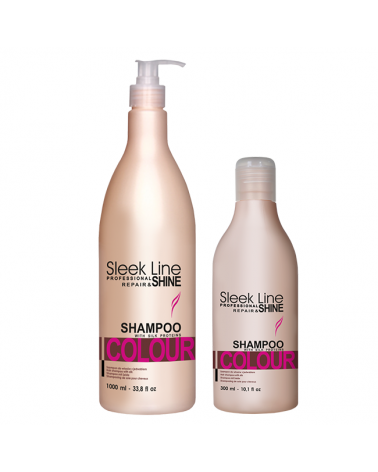 Stapiz Szampon z jedwabiem - Sleek Line -  Colour non-stop 300ml