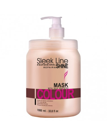 Stapiz Maska z jedwabiem - Sleek line - Colour Non Stop 1000ml