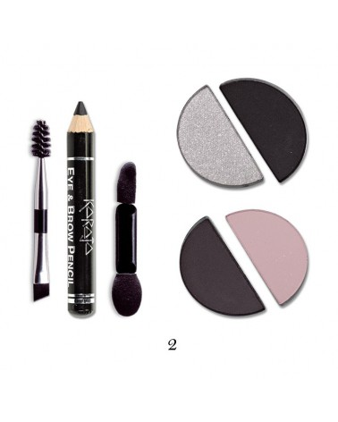 Karaja Eye&Brow Basic Mini paletka cieni do brwi i oczu nr 2
