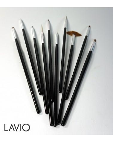 LAVIO Pędzeki zestaw 10 szt CZARNE R 073201
