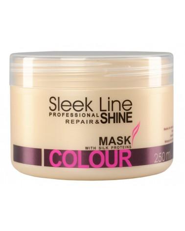 Stapiz Maska z jedwabiem - Sleek line - Colour Non Stop 250ml