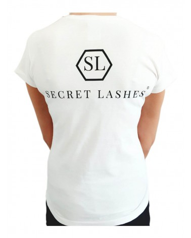 Koszulka Stylistki Secret Lashes-L-Biały