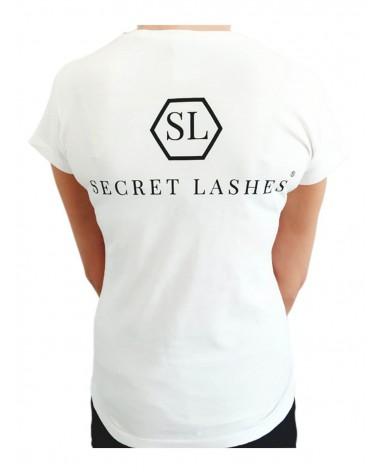 Koszulka Stylistki Secret Lashes-S-Biały
