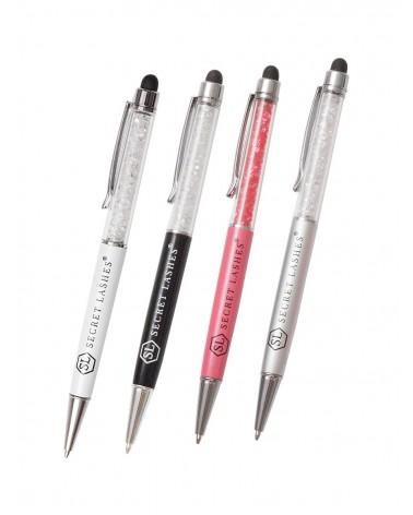 Długopis SL z kryształkami-Biały