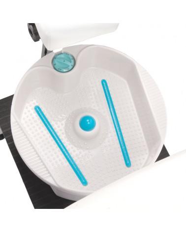 Fotel do pedicure z masażerem stóp BR-2301 biały