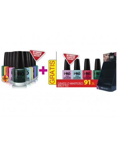 Mollon Pro Zestaw Nail Lacquer 15ml 10szt+ 4 szt gratis