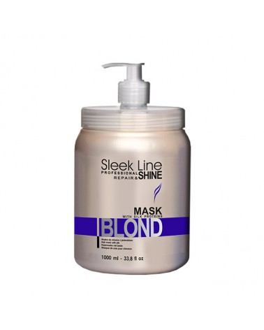 Stapiz Maska do włosów z jedwabiem Sleek Line Blond 1000ml